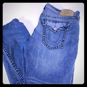 Tru Religion Men Skinny Jeans sz 42 Blue